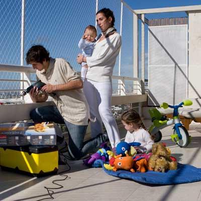 Sicherheitsnetz balkon kinder